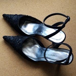 Caparros Black Slingback Dress Shoes, 8B